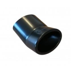 Auspuffblende Smart Fortwo Typ 453 ab 2014 0.9 + 1.0 Ø95x65mm schwarz matt