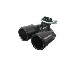 Auspuffblende schwarz für SMART 1998-2007 Typ 450 Fortwo City Coupe Cabrio Ø2x60mm